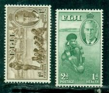 Fiji 1951  Health Stamps Rugby Swimming   2 values MLH **