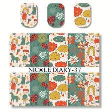 Nicole Diary Nail Art Water Transfer Decal Manicure Sticker Cartoon Pattern Diy