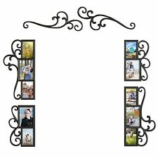 6 Piece Over the Door Photo Picture Frame Collage Set Black Wall Art Home Decor