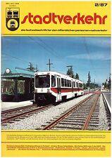 STADTVERKEHR 2/87 Portland Osaka Kyoto Mexico Caracas - Tramway, métro, autobus