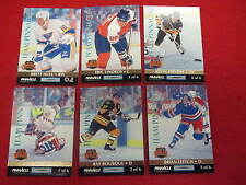 1992 93 Pinnacle Hockey Team Pinnacle set   Gretzky  Bure    6 cards