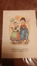 Vintage Hummel postcard unused original Hanitzsdh Karte good condition