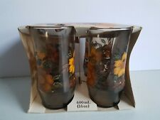 Apollo Flower Vintage Drinking Glasses Tumblers in Original Package 14 Ounce