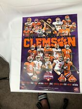 artist signed auto New CLEMSON TIGERS Russell Athletic Bowl Champs FOOTBALL ART