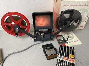 Rank Aldis Format Super 8 & 8mm Cine Film editor viewer & Splicer