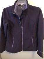 EDDIE BAUER Women's Soft Shell Jacket Full Zip Pockets Purple Size Large