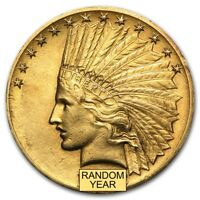 $10 Indian Gold Eagle XF (Random Year) - SKU #14241