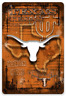 Texas University Longhorns Walpaper with Logo, State of Texas & Bevo Face Magnet