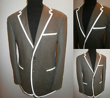 MENS 40S BROWN COLLEGE BOATING REGATTA ROWING BLAZER SUIT JACKET SPORT COAT