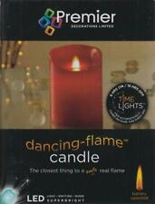 Premier LED Dancing Flame Battery Operated Candle With Timer - Red 13cm