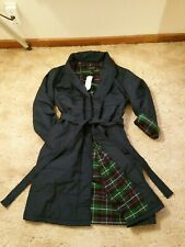 Lands End Primaloft Insulated Quilted Robe Trench Coat. Navy. Large L 42-44
