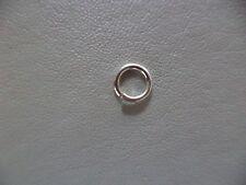 Argento Sterling 6 mm Open jump Anello pesanti Confezione da 2