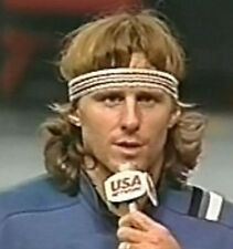 Sweatbands- Fila BJ Borg Headband & Wristband Set - Tennis- Fancy Dress.