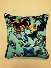 Designers Guild Christian Lacroix, Cushion Cover 'Butterfly Parade' Lagon 16x16