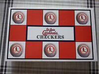 St Louis Cardinals Baseball Checkers MLB Game rivals Chicago cubs