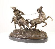 Bronze Sculpture Cavalier Kirghize Chevaux Mégère neuf 99937959-dss
