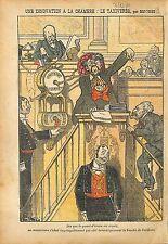 Caricature Antiparlementaire Députés Franc-Maçons Assemblée 1911 ILLUSTRATION