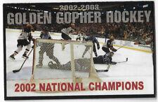 2002-03 Minnesota Golden Gophers College Men Hockey Schedule !