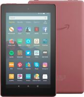 """NEW Amazon Fire 7 Tablet With Alexa 7"""" Display 16 GB (9th Gen) 2019 - PLUM (RED)"""