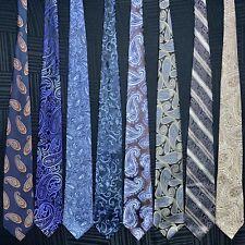 8 Men's Ties Thick Paisley Designer Pronto Uomo Jones NY Alfani Silk Tie Lot