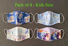 4 Pieces Kids Children Girls Face Mask Reusable - Frozen Theme Elsa Olaf