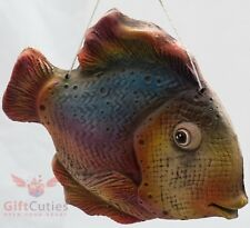 Clay figurine wall decor pendant Black Centropyge Fish souvenir handmade