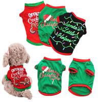 Pet Christmas Cotton Clothe Puppy Santa Party Vest Dog Cat Shirt Costume Apparel