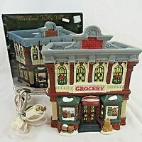 Heartland Valley Village Lighted Building Grocery Store O' Well Vintage 1997