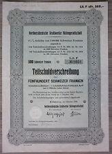 Acción, noroeste alemana centrales AG, Hamburgo 1936, (art.3201)