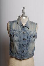 DSQUARED d squared Denim jean Jacket Vest cutoff xs runway sample