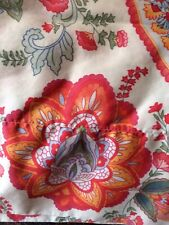Two Standard Pillowcases Floral White Colorful Silky Soft 100% Pima Cotton