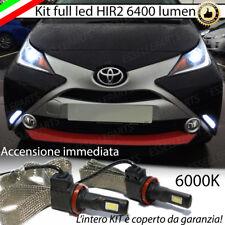 KIT FULL LED HIR2 HIR TOYOTA AYGO B4 LAMPADE LED 6000K NO AVARIA LUCI BIANCO