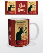 CHAT NOIR 11 OZ COFFEE MUG FRANCE FRENCH DECOR SHOW PARIS CABARET NEWS TEA CUP!!
