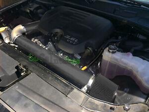 All BLACK COATED 2PC Cold Air Intake Kit For 2011-2016 Chrysler 300 3.6L V6