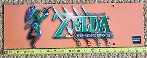 Original Legend Zelda Four Swords Adventures Reservation Board Advertisement GBA