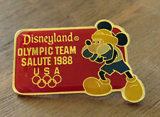 Disneyland USA Olympic Team Salute Mickey Mouse Boxing 1988 Seoul Olympic Pin