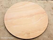 Massive Sandsteinplatte Tischplatte Rund Beige Matt Steinplatte Naturstein NEU