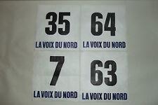 (39) 4 ANCIEN DOSSARD DE COUREUR CYCLISTE COURSE TOUR VÉLO FLANDRES FRANCE 1970