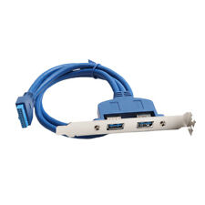 Dual USB 3.0 Female Rear Back Panel to Motherboard 20pin Connector Cable