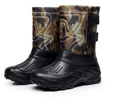 7619 Men's Waterproof Camo Light Weight Fishing Snow Shoes Fleece Ankle Boots