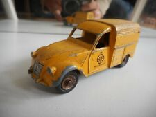 """Dinky Toys Daf Citroen 2CV """"ANWB"""" in Yellow (Made in France)"""