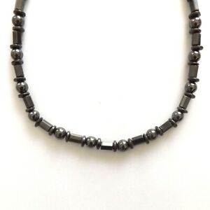 REAL MAGNETITE LOADSTONE MAGNETIC NECKLACE ROUND TUBES STRONG MAGNETIC CLASP