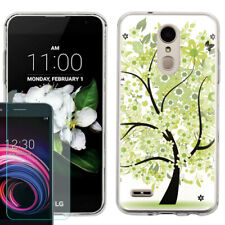 TPU Case for LG Zone 4 / Phoenix 4 + Tempered Glass - Green Tree