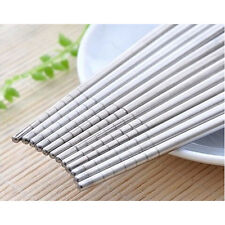 Chopsticks 5 Pairs Stainless Steel Beautiful Gift Set Assorted (10 Chop sticks)
