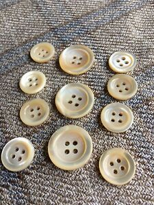 11  Natural Genuine MOP Mother Of Pearl  Real Buttons Bespoke Jacket Blazer