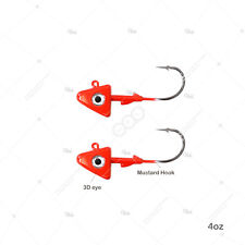 2 Pack Mustad SD824-1PL Elite Shad Darter Jig Heads 1 oz 5//0 Hook Plain Fleck