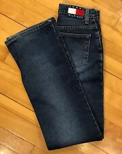 TOMMY HILFIGER Hipster Flare EUC Jeans High Waist Spellout sz 26 made in Canada