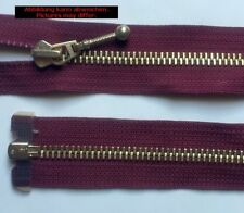 Opti Zipper Fasten Metal divisible Jewelry sliders 90cm burgundy