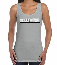 Hollyweed Cannabis Women's Tank Vest Top - Weed Spliff Hollywood Sign