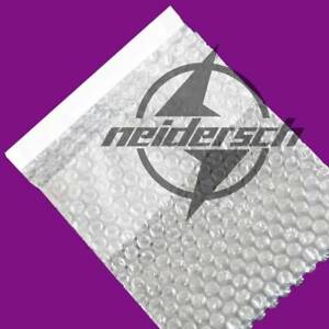 """150 x 200+25mm 6"""" x 8"""" 100 Clear Self Seal Bubble Bags Plastic Packing Pouches"""